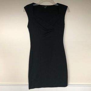 Forever 21 Black Fitted Mini Bodycon Dress